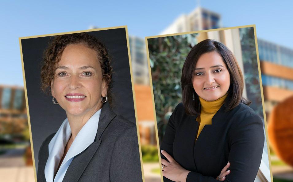 Drs. Deidre Callanan and Tamanna Tiwari, of the CU School of Dental Medicine
